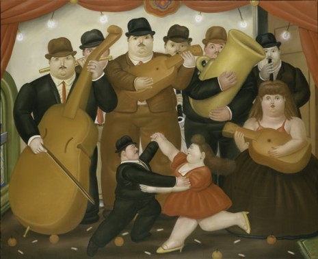 Fernando Botero, Dancing in Colombia, 1980. Oil on canvas. The Metropolitan Museum of Art, Anonymous Gift, 1983.