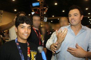 Alex Valle at Comic-Con with Seth MacFarlane