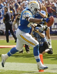 San Diego Chargers All-Pro Tight End Antonio Gates