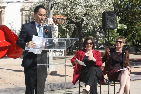 Councilman Todd Gloria at Art of the Open Air Inauguration Photo S. Valle
