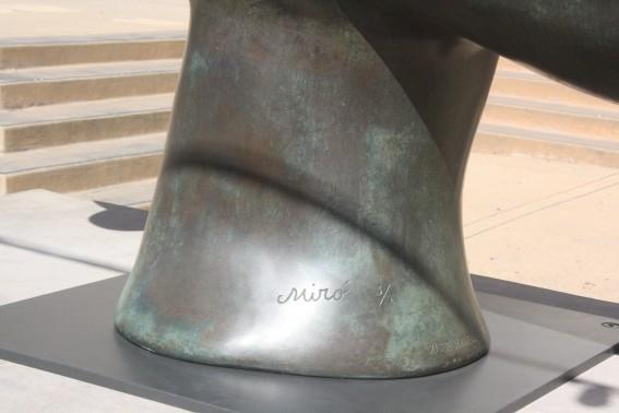 Joan Miro's signature on Solar Bird on display at SDMA. Photo by S. Valle