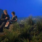 Steven Spielberg directs Ruby Barnhill in The BFG