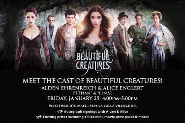 Meet castmembers at UTC La Jolla for autographs!