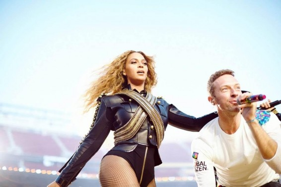 Beyonce and Chris Martin Global Citizen SB50