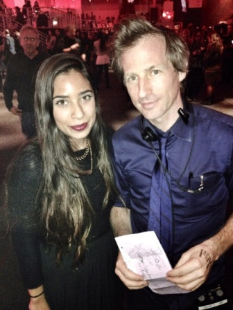 Director Spike Jonez and NYU student Bianca Valle at the Youtube Music Awards. Photo B. Valle