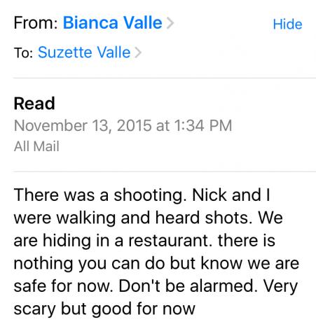 Bianca email shooting Paris