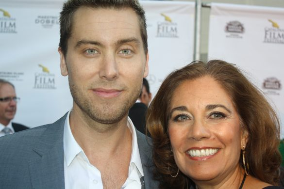 Lance Bass and Suzette Valle at the Catalina Film Festival