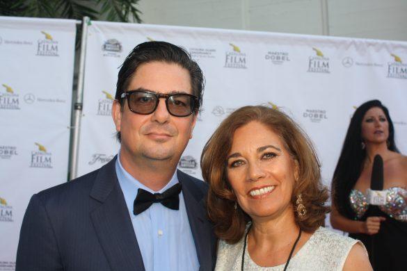 Roman Coppola and Suzette Valle at the Catalina Film Festival