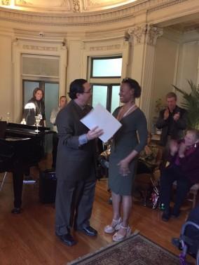 Mayor Tanaka and Laurens Grant. CIFF