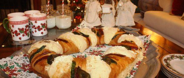 Traditional Rosca de Reyes for Dia de los Reyes Magos