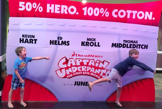 The West boys at the Captain Underpants screening. Photo Rebecca West