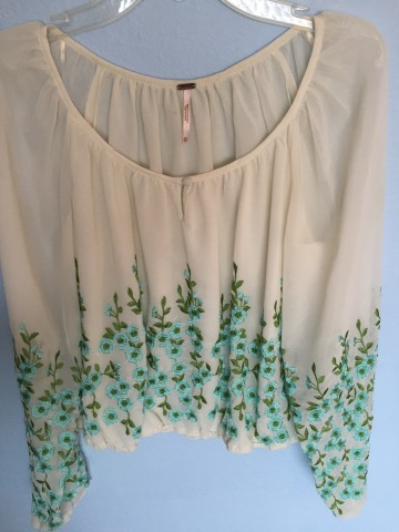 Coachella Free People Embroidered Top XS