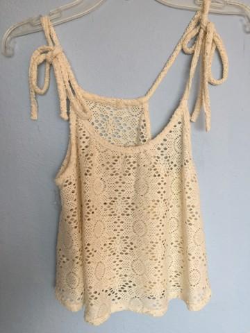 Coachella Lace Crop Top OS