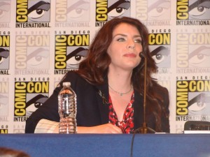 """Twilight Saga"" author Stephanie Meyer at Comic-Con 2012. Photo by S. Valle"