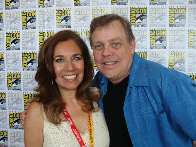Mark Hamill and Suzette Valle Comic-Con 2012. Photo S. Valle.