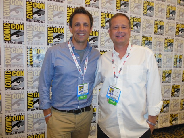 Seth Meyers and Mike Shoemaker at San Diego Comic-Con. Photo S.Valle