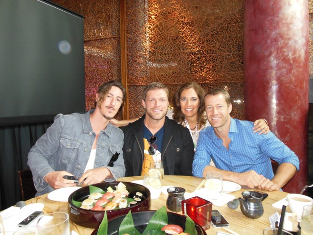 "L to R: Eric Balfour, Adam Copeland and Colin Ferguson of ""Haven"" at Nobu for Comic-Con San Diego 2013. Photo S. Valle"