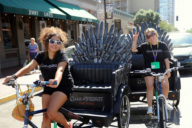 Comic Con Pedi Cab Game of Thrones