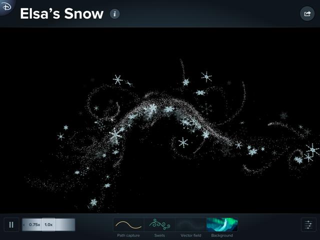 Disney Animated Elsa's Snow
