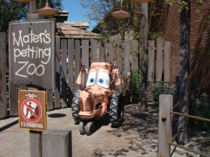 "Mater at Disney's ""Cars Land"" California Adventure Park. Photo S. Valle"