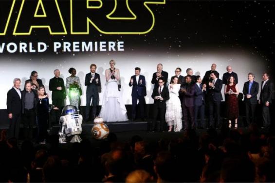Full Cast of The Force Awakens Premier