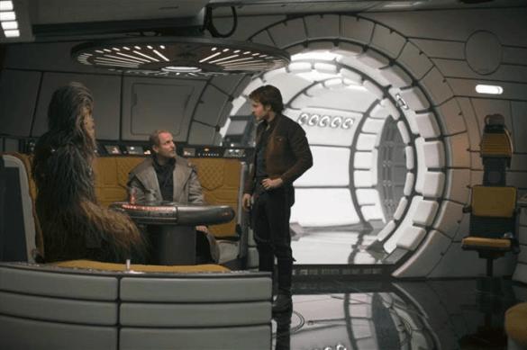Han Solo in the Milennium Falcon