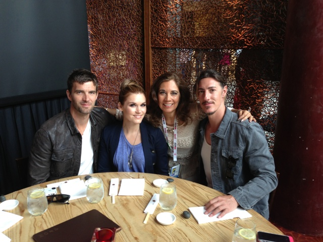 L to R: Lucas Bryant, Emily Rose, Suzette Valle and Eric Belfour. Syfy's Haven Cast at Nobu for Comic-Con San Diego 2013