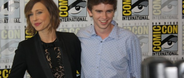 Bates Motel at Comic-Con 2014 Vera Farmiga and Freddie Highmore Photo S. Valle