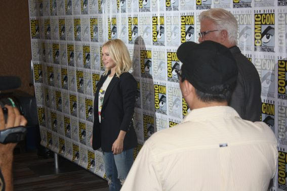 Kristen Bell at Comic-Con The Good Place. Photo S. Valle