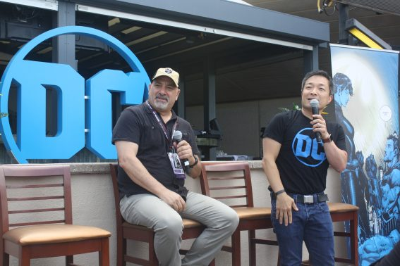 DC Entertainment Co-Publishers Dan Didio and Jim Lee at Comic-Con 2017.Photo S. Valle