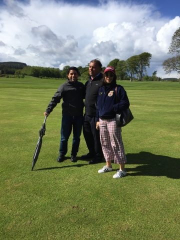 On the green at Powerscourt Golf Course, Ireland