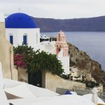 The Blue Domes of Oia, Santorni, Greece