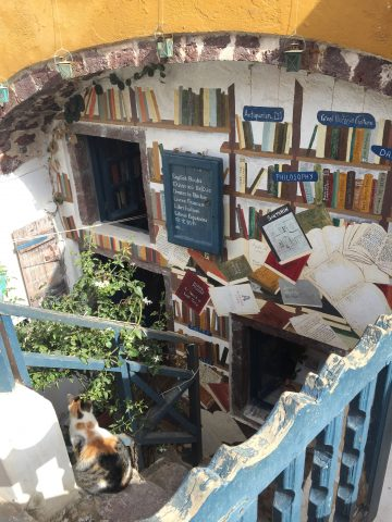 Bookstore in Oia, Santorini