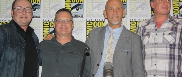 """Penguins of Madagascar"" Directors Simon Smith and Eric Darnell, John Malkovich, and Tom McGrath Photo S. Valle"