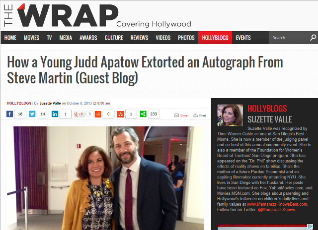 Judd Apatow and Suzette Valle