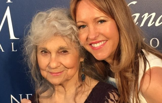 Lynn Cohen (Hunger Games: Catching Fire) 83, and director Marina Donahue at the La Costa Film Festival.