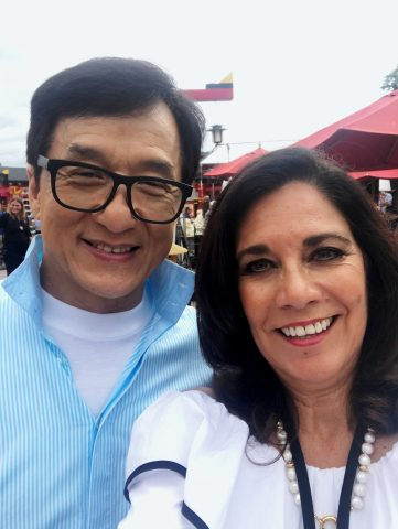 Jackie Chan at Legoland, CA promoting The Lego Ninjago Movie