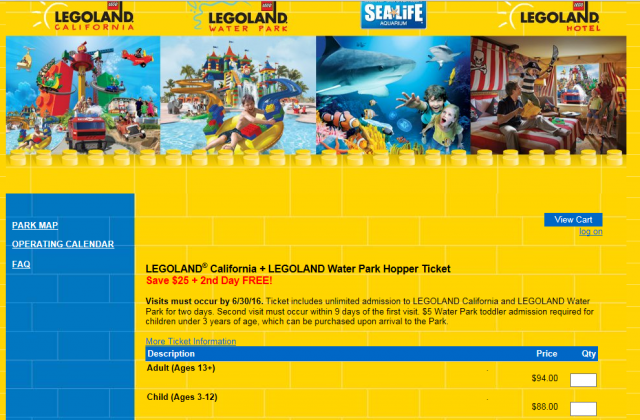 Legoland Second Day Free Limited Time Offer