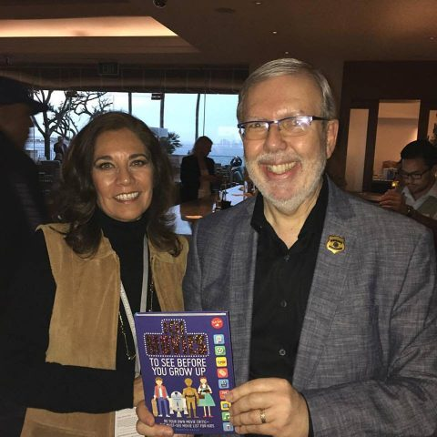 Leonard Maltin and Suzette Valle. Maltin owns 101 Movies. Photo S. Valle at CIFF