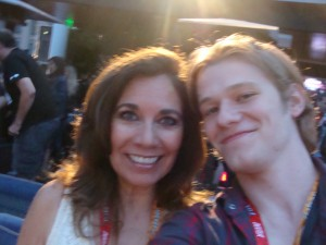 Suzette Valle and Lucas Till Comic-Con 2012