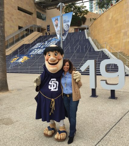 San Diego Padres Friar and Suzette Valle