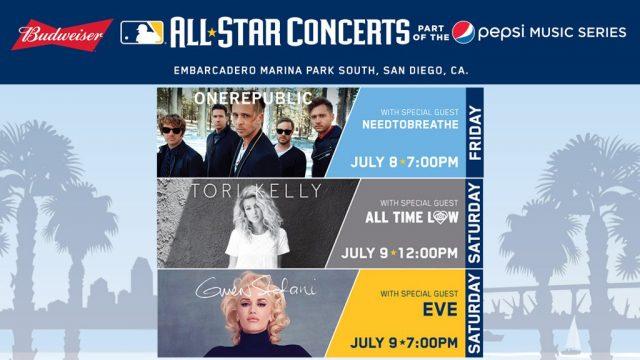 MLB Concert Line Up