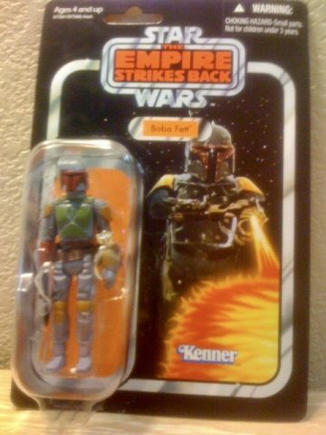 Star Wars Boba Fett action figure holding the engagement ring. Photo courtesy of M. Atchity.