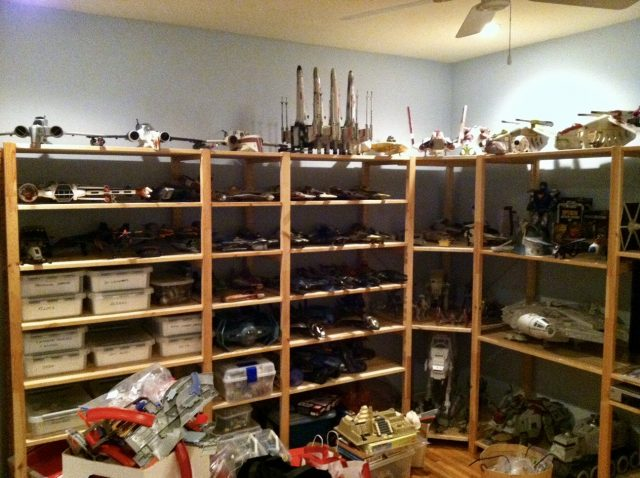 Matt Atchity's personal Star Wars collection. Photo courtesy of M. Atchity