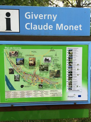 Map of Monet Gardens in Giverny