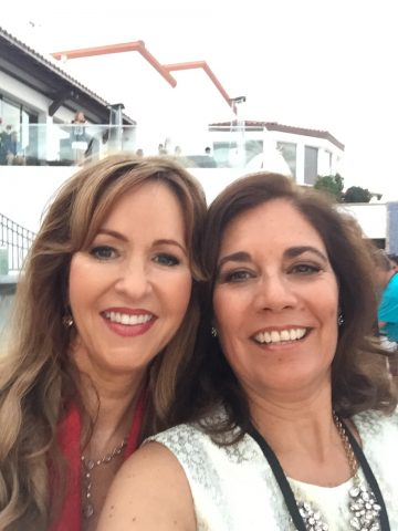 Marina Donahue and Suzette Valle at the La Costa Film Festival in 2015.
