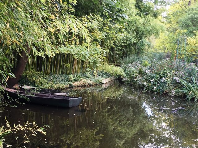 Monet Boat in Pond Giverny