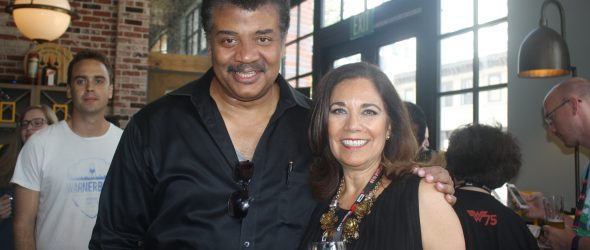 Neil deGrasse Tyson and Suzette Valle at Comic-Con