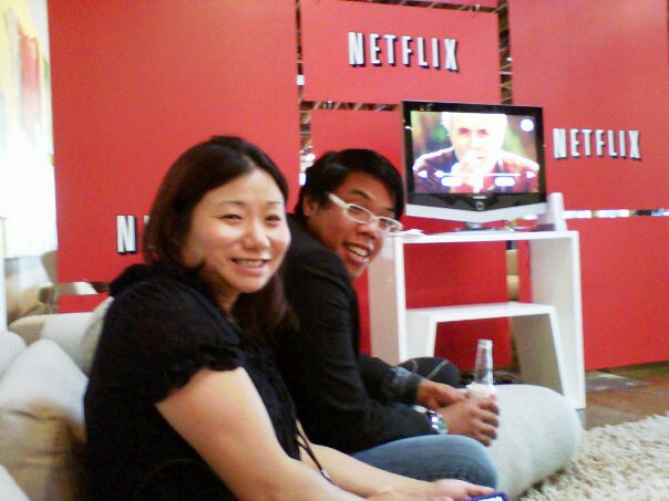 Netflix Blogger Party in San Diego. Jenn Boyd and Richie Equid. Photo by S. Valle