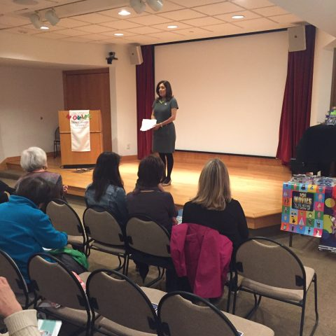 Author Suzette Valle Speaking to New Canaan Library Members